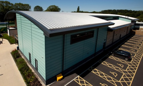 Euroclad products on David Lloyd Centre, Farnham